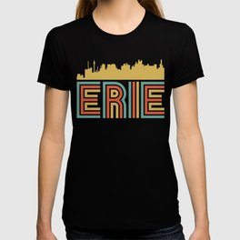 Vintage Style Erie Pennsylvania Skyline T-shirt