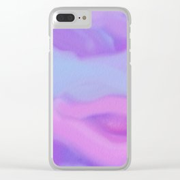 Modern abstract teal magenta violet watercolor pattern Clear iPhone Case