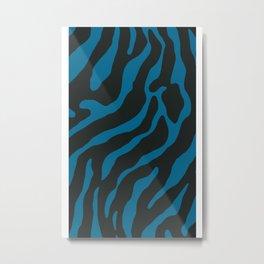 Tiger Skin Pattern Allports Blue Metal Print