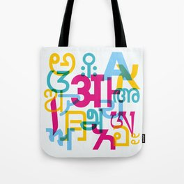 A in Scripts Around the World Tote Bag