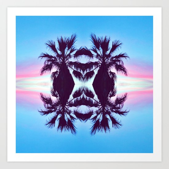 PALMADELIC BLUE Art Print