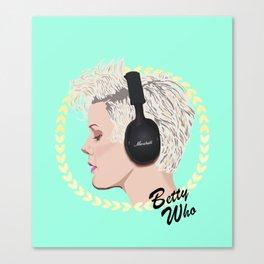 Betty Who   Pop Star Canvas Print