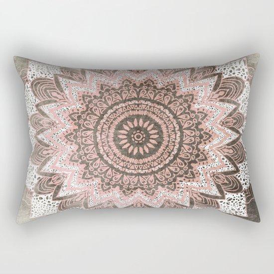 BOHOCHIC MANDALA IN CORAL Rectangular Pillow