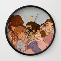 cargline Wall Clocks featuring kiss kiss fall in love by cargline