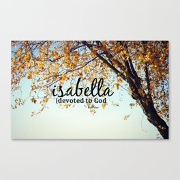 Isabella Canvas Print
