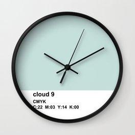 colorblock blue white Wall Clock