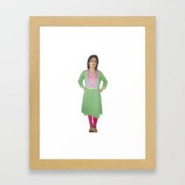 Casual Women's Kurti Framed Art Print