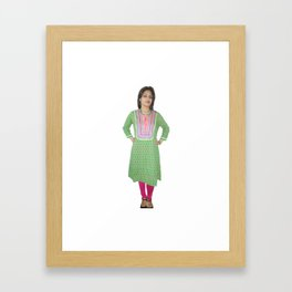Casual Women's Kurti Framed Art Print