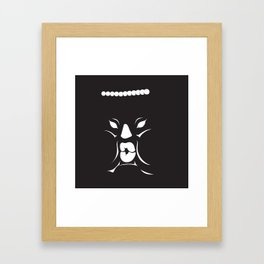 Inky Junior face Framed Art Print