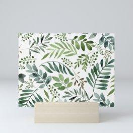 Botanical leaves -Watercolor   Mini Art Print