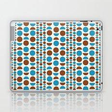 Geometric pattern brown and blue. Laptop & iPad Skin
