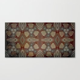 Whirling spirals in earthy early painting style Canvas Print