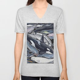 Dolphin, orca, beluga, narwhal & cie Unisex V-Neck