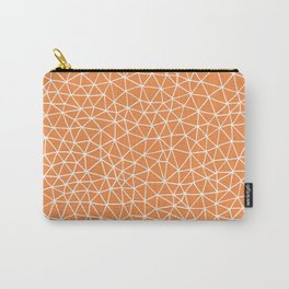 Connectivity - White on Orange Carry-All Pouch