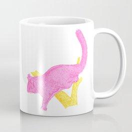 Bright Pink Australian Native Flying Possum Illustration Coffee Mug