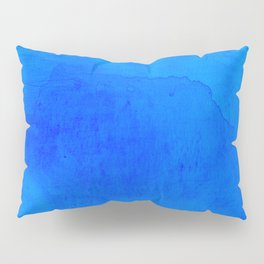 DARK BLUE WATERCOLOR BACKGROUND  Pillow Sham