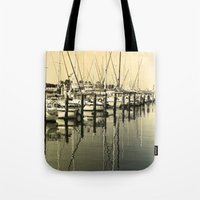 nautical Tote Bags featuring Nautical  by Devin Stout