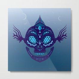Zora Sugar Skull Metal Print