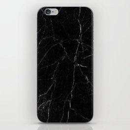 Black Marble Print iPhone Skin