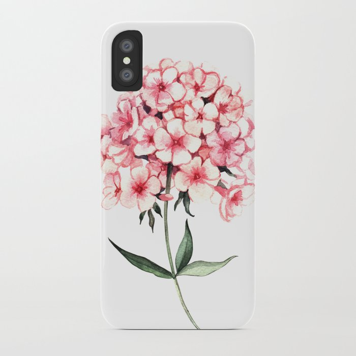 Watercolor flower phlox iPhone Case