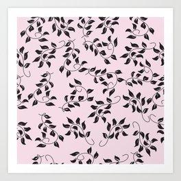Peite Purple Floral Art Print