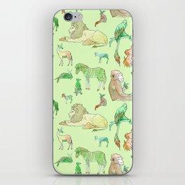 Watercolor Zoo iPhone Skin