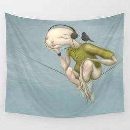 Up here with you Wall Tapestry