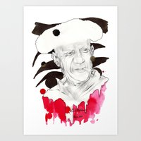 picasso Art Prints featuring Picasso by Mitja Bokun