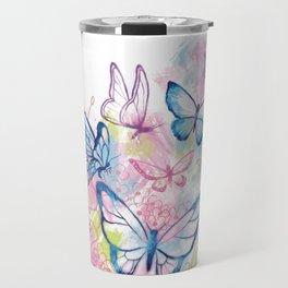 Butterflies in Flight Travel Mug