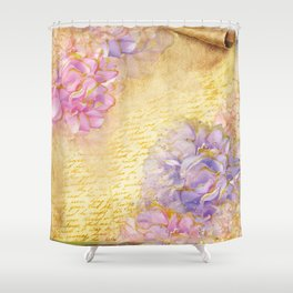 Luv Letter Shower Curtain
