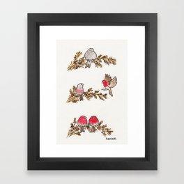 Bird no. 291: You Fill Me Up Framed Art Print