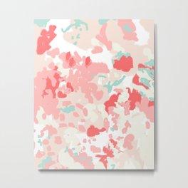 Kelsie - cute abstract minimal pink blush painterly dorm college office trendy decor Metal Print