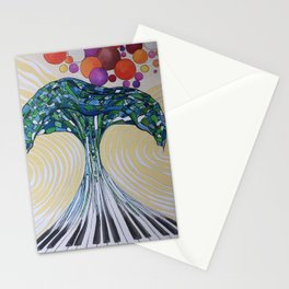Music wave Stationery Cards