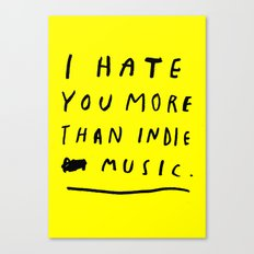 INDIE MUSIC Canvas Print