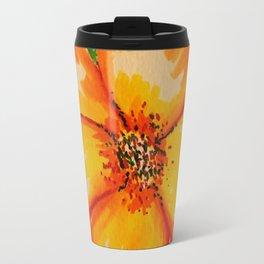 Orange flower - watercolor Travel Mug