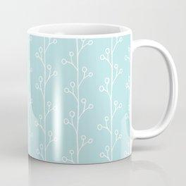 Blue and White Vines Coffee Mug