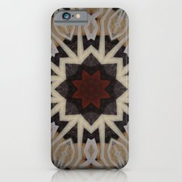 Be Still My Beating Heart // Geometric Abstract Tribal Black Beige Rustic Red Sacred Geometry Patter iPhone Case
