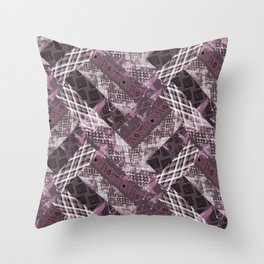 Combined ethnic pattern. Patchwork. Throw Pillow
