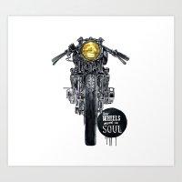 Moto - cafe racer Art Print