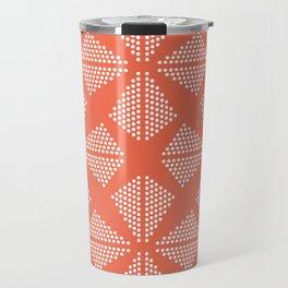 Geometric Dots Pattern - Pink Travel Mug