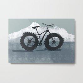 Fat bike in the mountains Metal Print