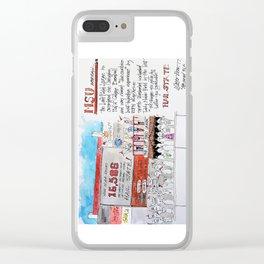MSU Left Field Lounge Clear iPhone Case