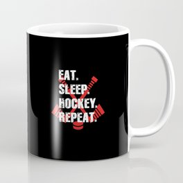 Eat Sleep Hockey Repeat Coffee Mug