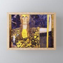 Gustav Klimt - Pallas Athena - Digital Remastered Edition Framed Mini Art Print