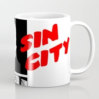 sin city Mugs featuring Sin City by FYeahMelissa