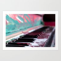 music notes Art Prints featuring Notes by Rene Amado