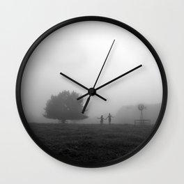 mist land1 Wall Clock