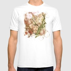 Majestic Tree Mens Fitted Tee White MEDIUM