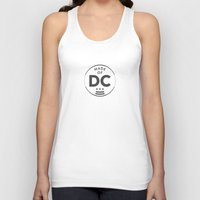 washington dc Tank Tops featuring Made of DC (Washington DC) by Patrick Hills