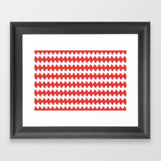jaggered and staggered in poppy red Framed Art Print